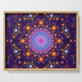 """Guardian"" Mandala painting Serving Tray"