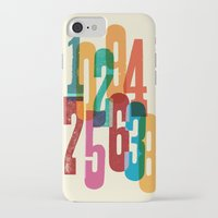 numbers iPhone & iPod Cases featuring Numbers by Marco Campedelli