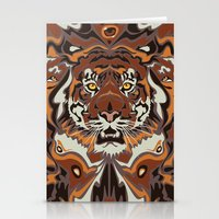 tigers Stationery Cards featuring Tigers by Darish