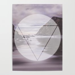 Calm Waters sacred geometry circle triangle Poster