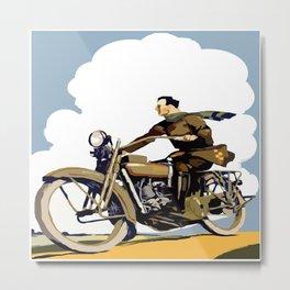 The Motorcyclist Metal Print