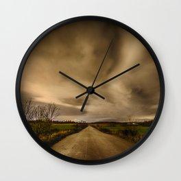 The Empty Road Wall Clock
