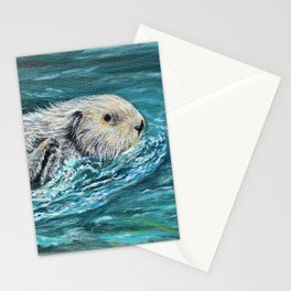 Ooh Goody Lunchtime Sea Otter Painting Stationery Cards