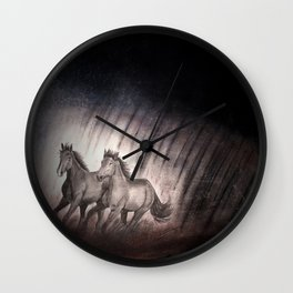 Outrunning The Storm Wall Clock
