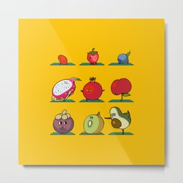 Super Fruits Yoga Metal Print