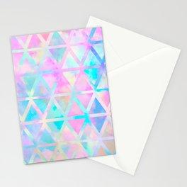 Pink pastel aztec pattern Stationery Cards