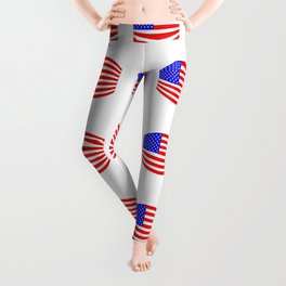 USA Stars and Stripes Flag Wide Leggings