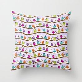 winter owls Throw Pillow