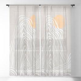 Echo mountain Sheer Curtain