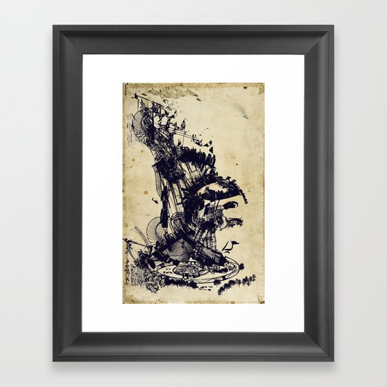 the architect's dream Framed Art Print