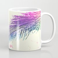 feather Mugs featuring Feather  by Monika Strigel