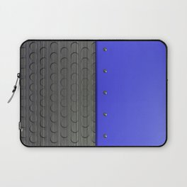 Colored plate with rivets and circular metal grille Laptop Sleeve