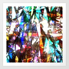Light Streaming Through Stained Glass Art Print