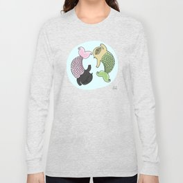 Merpug aka pisces pug! Long Sleeve T-shirt