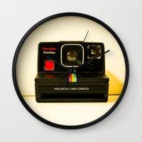 polaroid Wall Clocks featuring Polaroid by Sydney S Photography