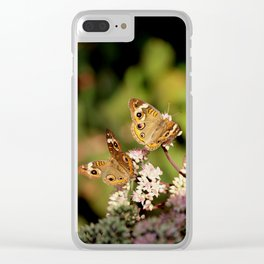 Butterfly Dance Clear iPhone Case