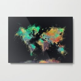 world map 107 #worldmap #map Metal Print