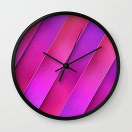 pink line Wall Clock
