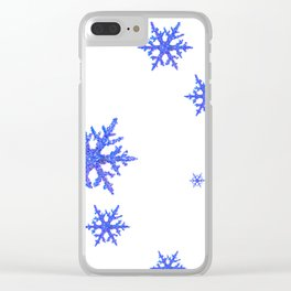 DECORATIVE WINTER WHITE SNOWFLAKES Clear iPhone Case