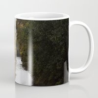 river Mugs featuring River by Orestis Lazos