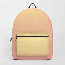 Pastel Millennial Pink Yellow Ombre Striped Gradient Backpack