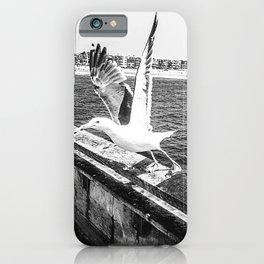 Seagull Taking Flight B&W // California West Coast Pier Vibes Beach Ocean Surf City USA iPhone Case