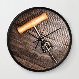 Corkscrew 3 Wall Clock