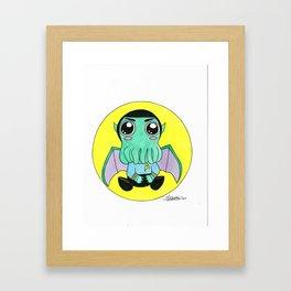 Spock Cute-thulu Framed Art Print
