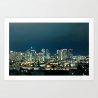 san diego Art Prints featuring San Diego by Luke Gram