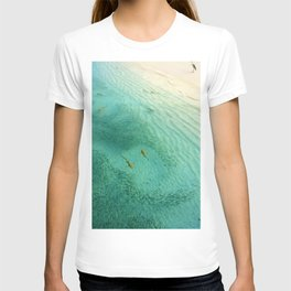 Sharks and Fish Beach (Color) T-shirt