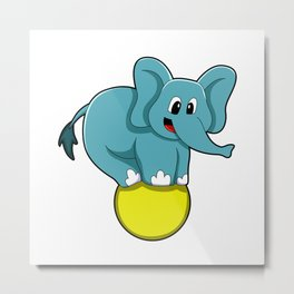 Elephant at Circus Metal Print
