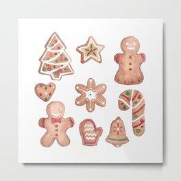 Christmas Gingerbread Cookies Metal Print