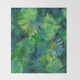 Forest Flora 8 Throw Blanket