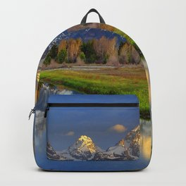 USA Grand Teton Wyoming Nature Mountains Lake Parks landscape photography Grass mountain park Scenery Backpack
