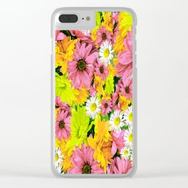 Daisy Glow Clear iPhone Case