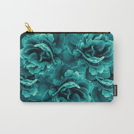 Turquoise Peony Flower Bouquet #1 #floral #decor #art #society6 Carry-All Pouch