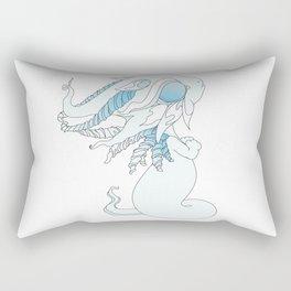 Winter Ghost Dragon Baby Rectangular Pillow