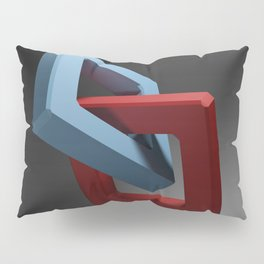 Abstract chain on black background - 3D rendering Pillow Sham