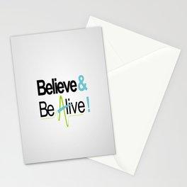 Believe & Be Alive! -V4Silver- Stationery Cards