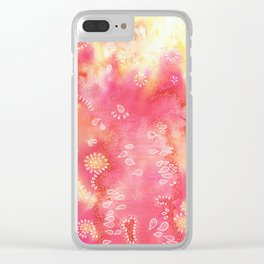 Water colors 3 - Pink and yellow corals Clear iPhone Case