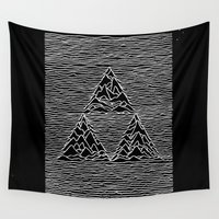 joy division Wall Tapestries featuring Triforce // Joy Division by Daniel Mackey