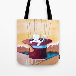 The cat traveling in dreams Tote Bag