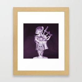 PURPLE PIPER Framed Art Print