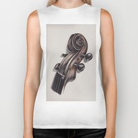 violin Biker Tanks featuring violin by Buffy Ino Kua