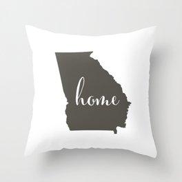 Georgia is Home Throw Pillow