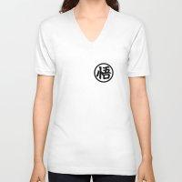 goku V-neck T-shirts featuring Goku symbol by Nicolasfl