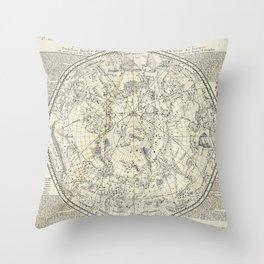 Southern Celestial Planisphere Throw Pillow