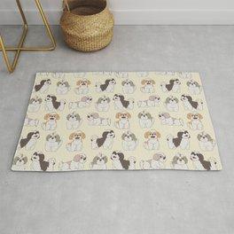 Cute Shih Tzu Dog Pattern Rug