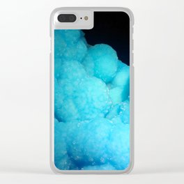 Dreamy Cotton Candy Blue Gemstone Clear iPhone Case
