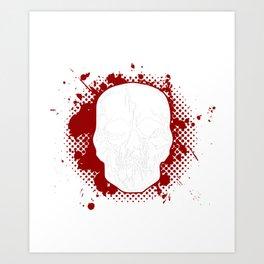 Men's Bad Old Man Skull Gift Art Print